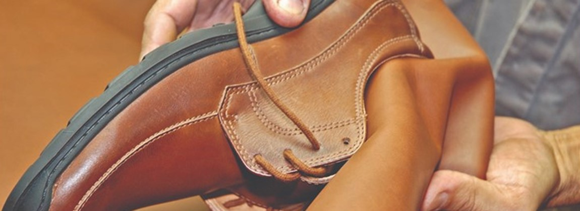 Sapato em couro.