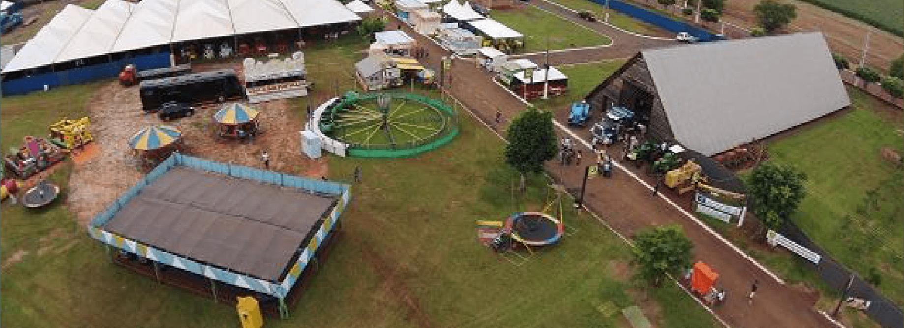 Vista aérea da Festa da Linguiça.